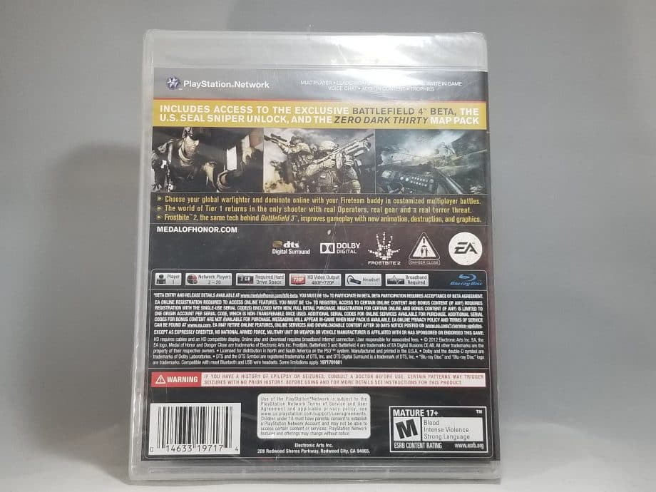 Medal Of Honor Warfighter Limited Edition Back