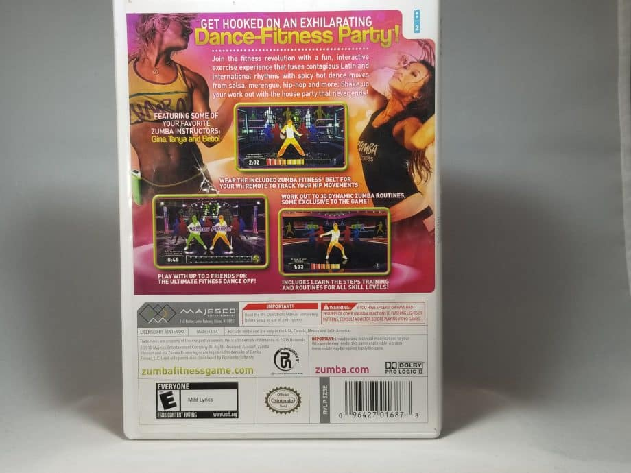Zumba Fitness Join The Party Back