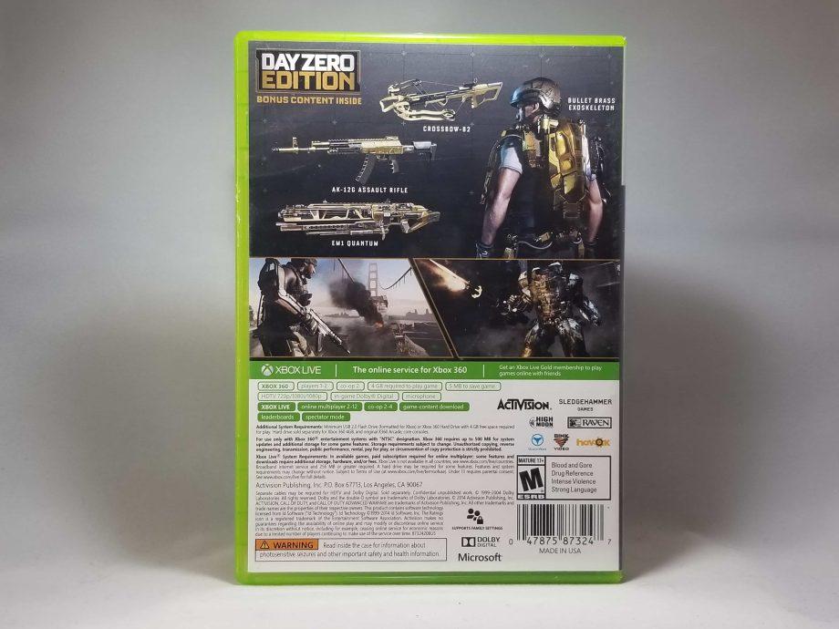 Call Of Duty Advanced Warfare Day Zero Edition Back