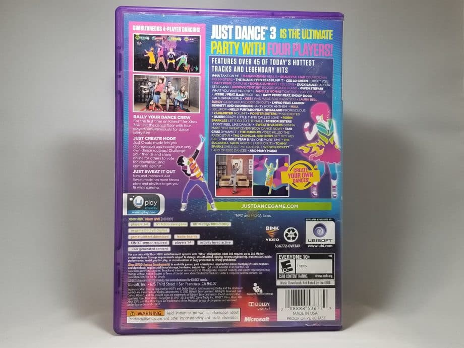 Just Dance 3 Back