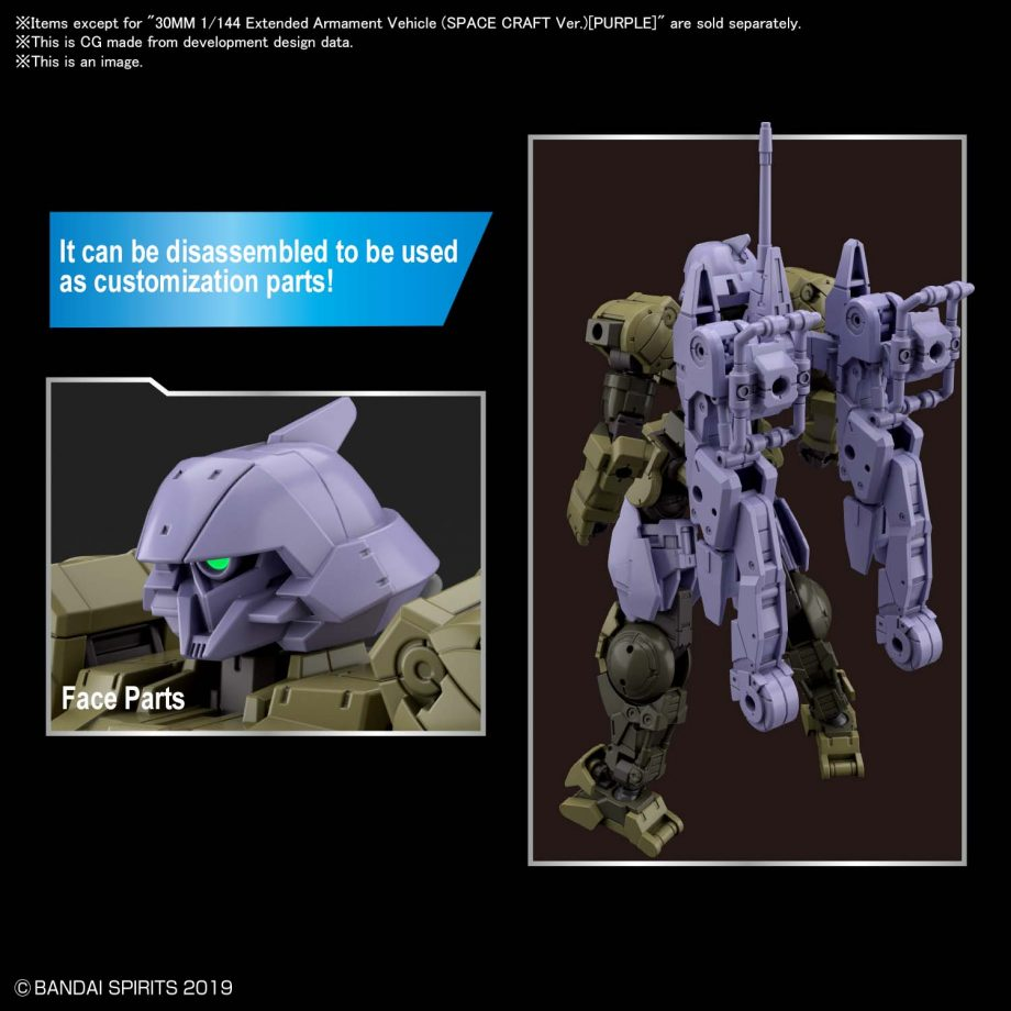Extended Armament Vehicle Space Craft Ver. Purple Pose 4