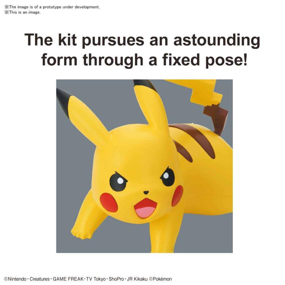 Pokemon Model Kit Quick!! Pikachu Battle Pose Pose 3