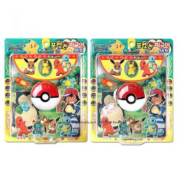 Pokemon Pokeball & 6 Figure Set Pose 1