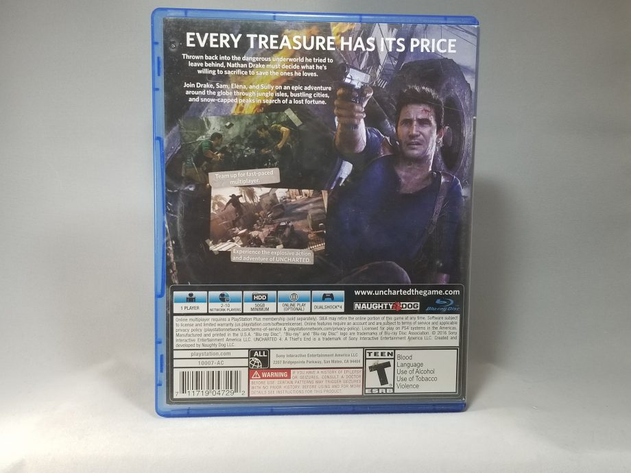 Uncharted 4 A Thief's End Back