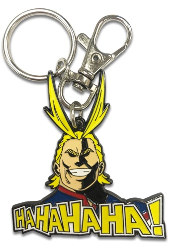All Might Laughing Metal Keychain