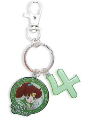 Sailor Jupiter & Symbol Metal Keychain
