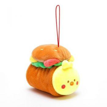 AniRollz Chickiroll Burger Plush Keychain Pose 1