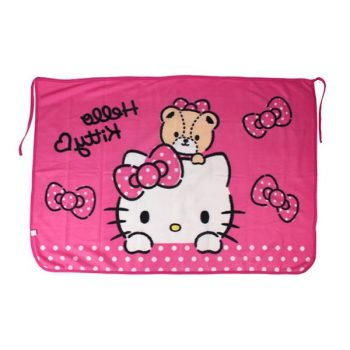 Hello Kitty Throw Blanket Pose 2