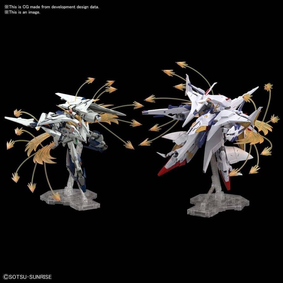 High Grade Xi Gundam VS Penelope Funnel Missle Effect Set Pose 3
