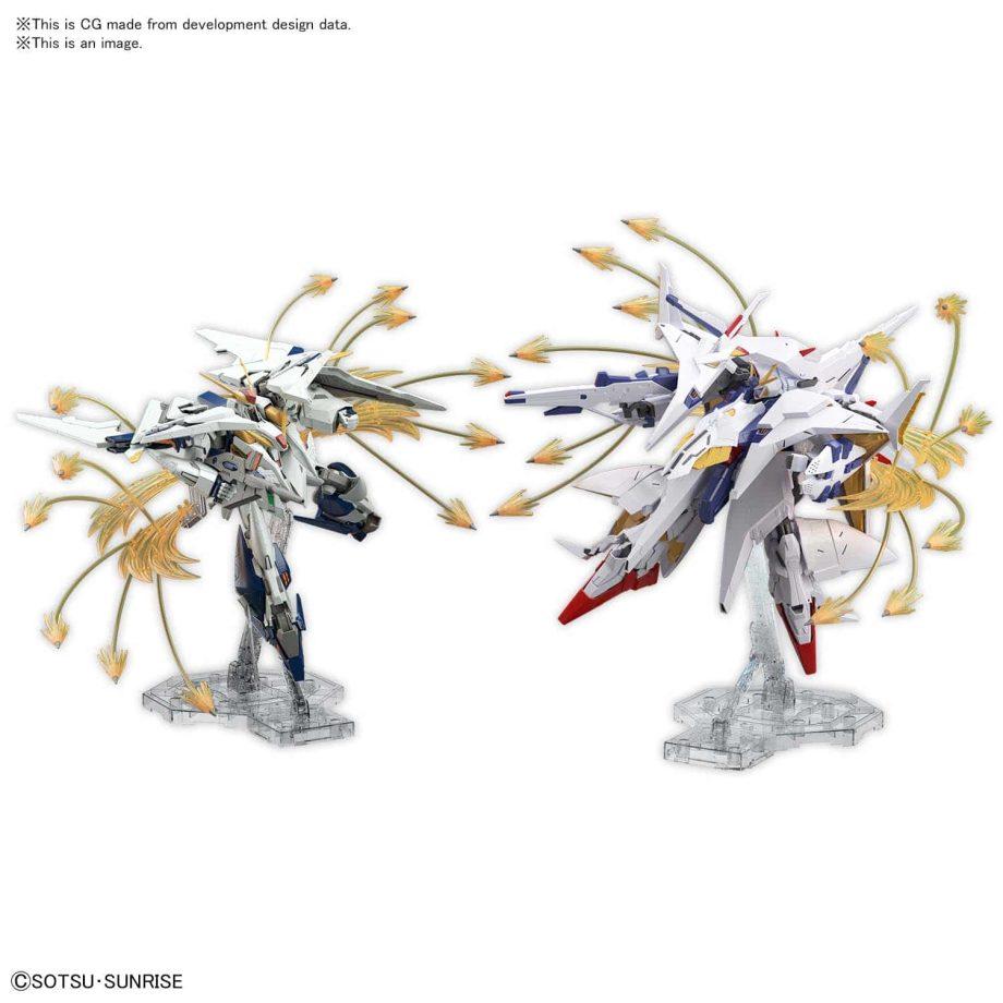 High Grade Xi Gundam VS Penelope Funnel Missle Effect Set Pose 2