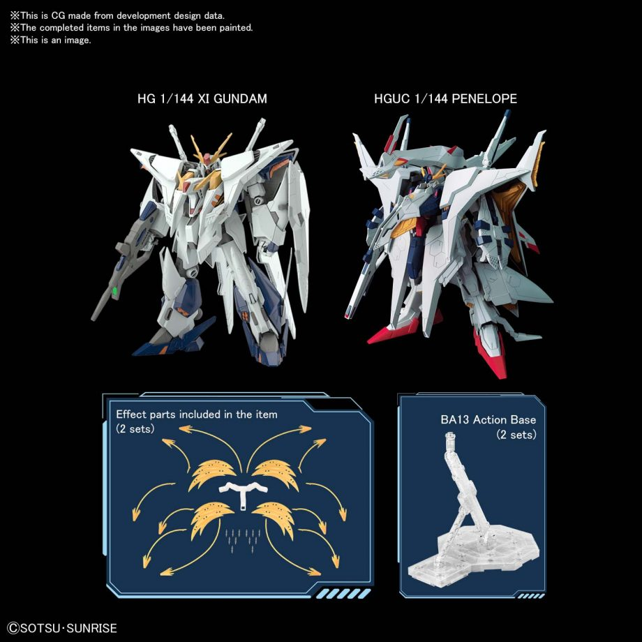 High Grade Xi Gundam VS Penelope Funnel Missle Effect Set Pose 7