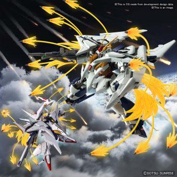 High Grade Xi Gundam VS Penelope Funnel Missle Effect Set Pose 1