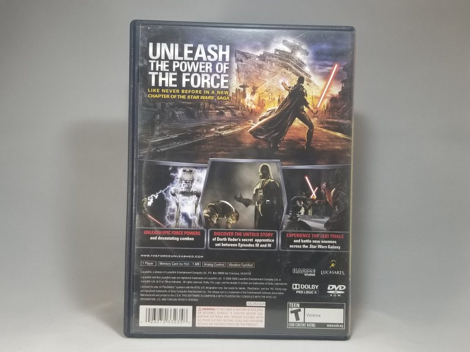 Star Wars The Force Unleashed Back