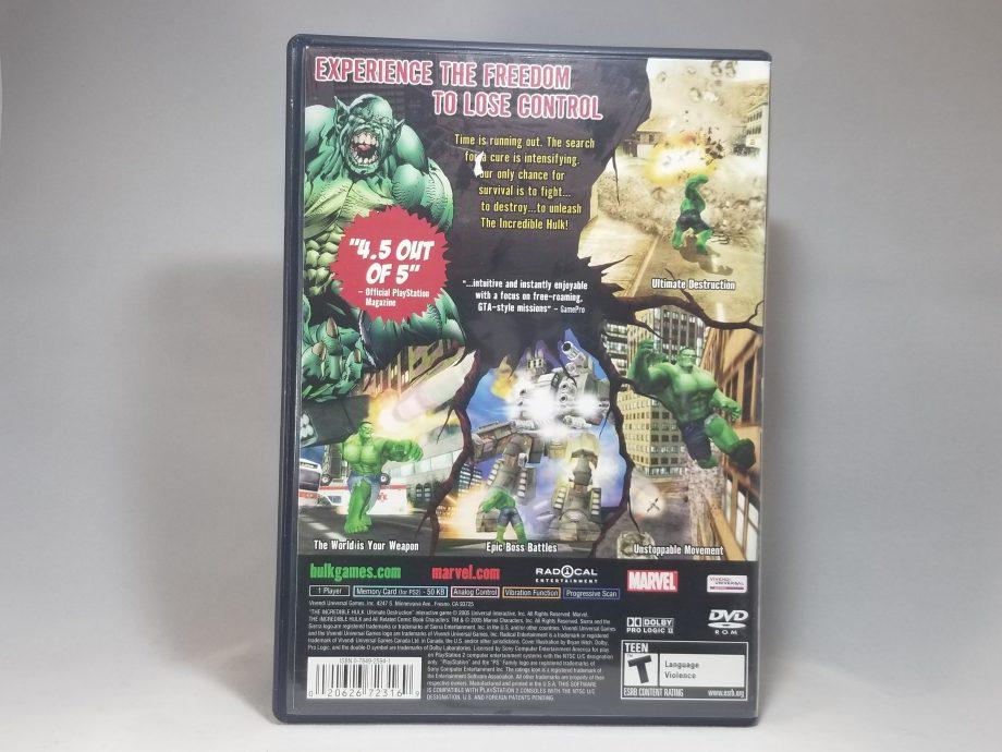 The Incredible Hulk Ultimate Destruction Back