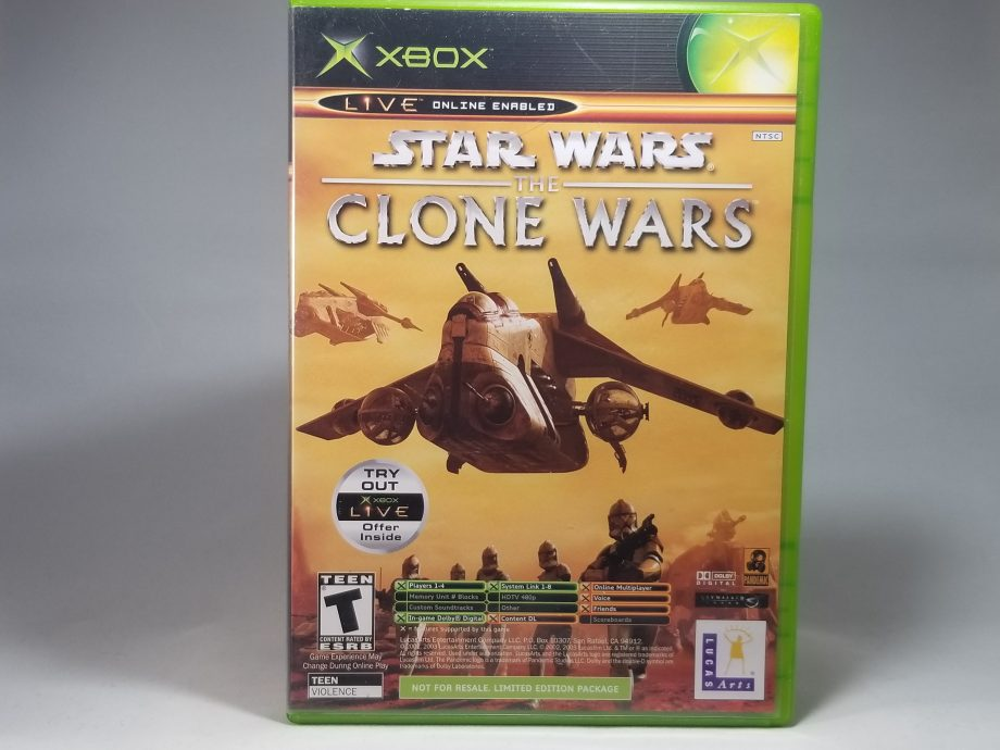Star Wars The Clone Wars & Tetris Worlds Front