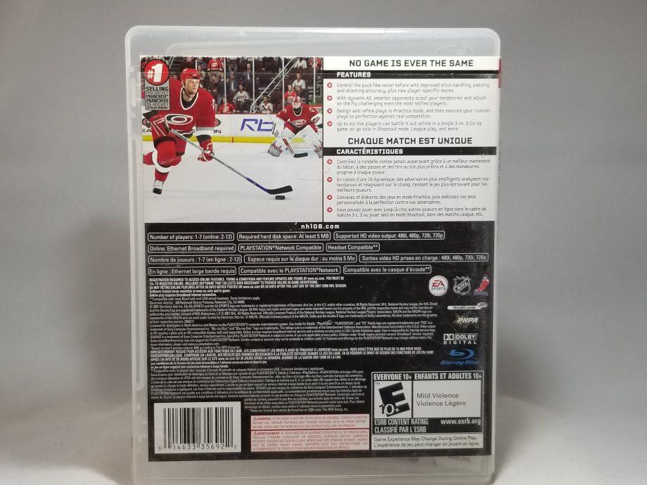 NHL 08 Back