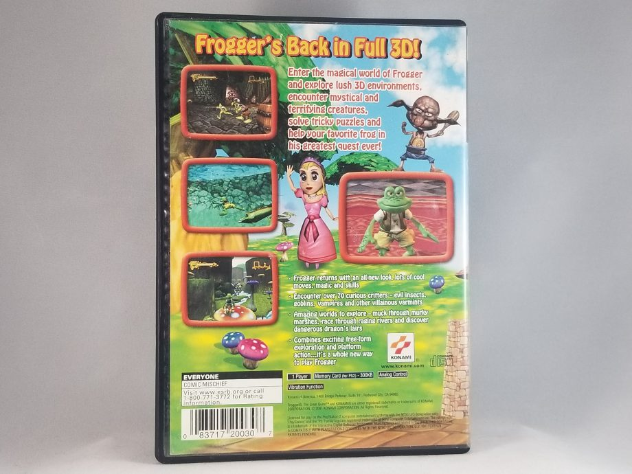 Frogger The Great Quest Back