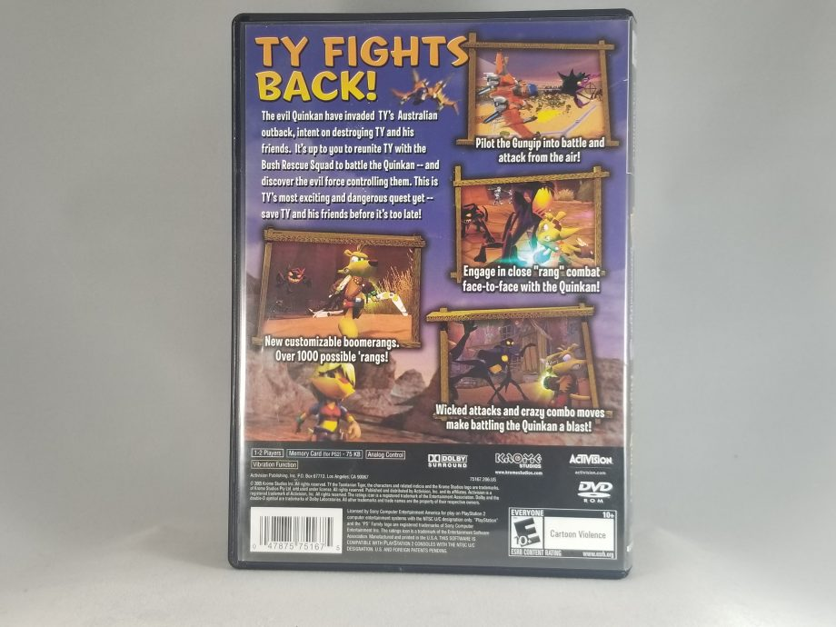 Ty The Tasmanian Tiger 3 Night Of The Quinkan Back