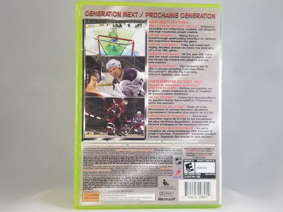 NHL 2K6 Mats Sundin Cover Back