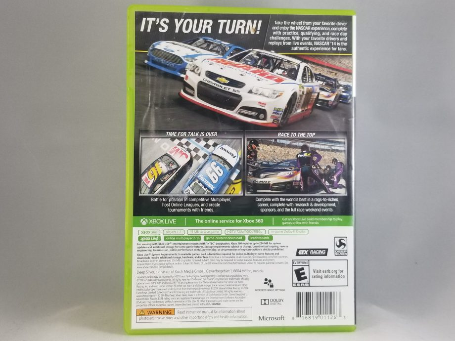 NASCAR 14 Back