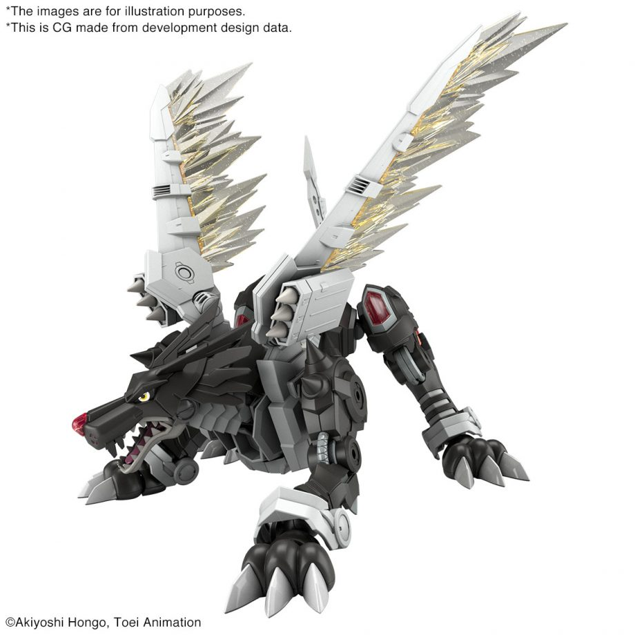 Black Metal Garurumon Amplified Figure-rise Kit Pose 2