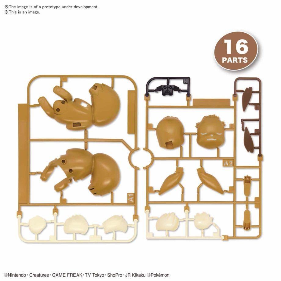 Pokemon Model Kit Quick!! Sleeping Eevee Pose 4