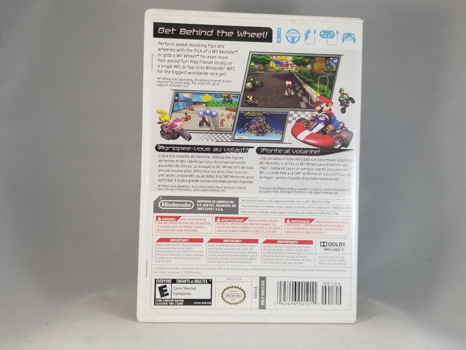 Mario Kart Wii Back