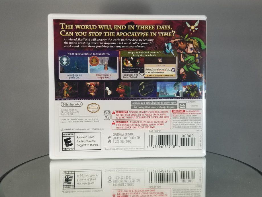 The Legend Of Zelda Majora's Mask 3D Back
