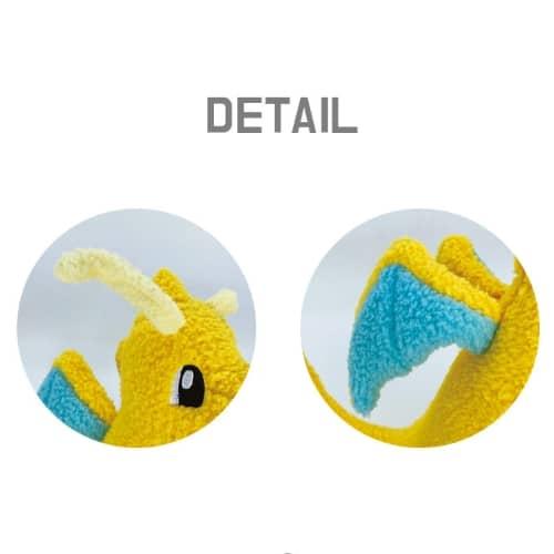 Dragonite Curly Fabric Plush Pose 4