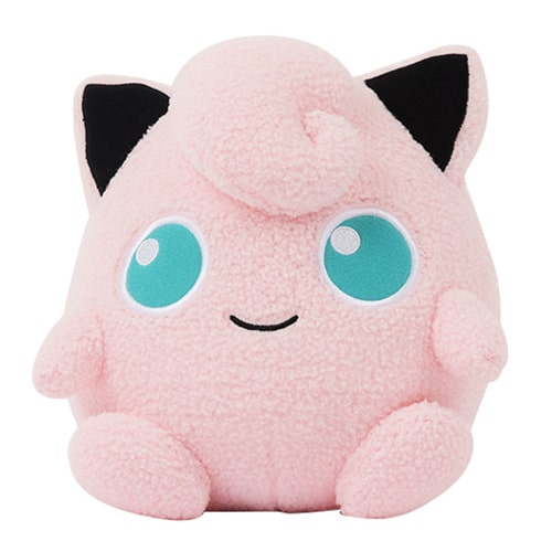 Jigglypuff Curly Fabric Plush Pose 1