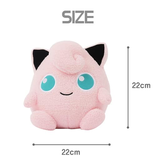 Jigglypuff Curly Fabric Plush Pose 5