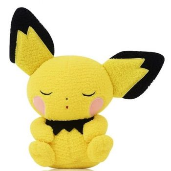 Pokemon Sleeping Pichu Curly Fabric Plush Pose 1