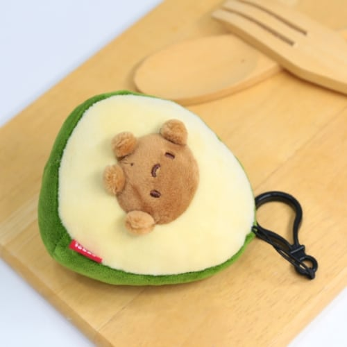Avocado With Seed Plush Keychain Pose 3