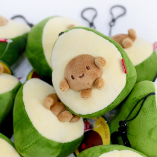 Avocado With Seed Plush Keychain Pose 4