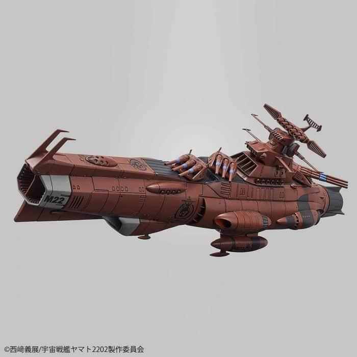 1/1000 Space Battleship Yamato 2202 UNCF D1 Mars Absolute Defense Line Set Pose 5