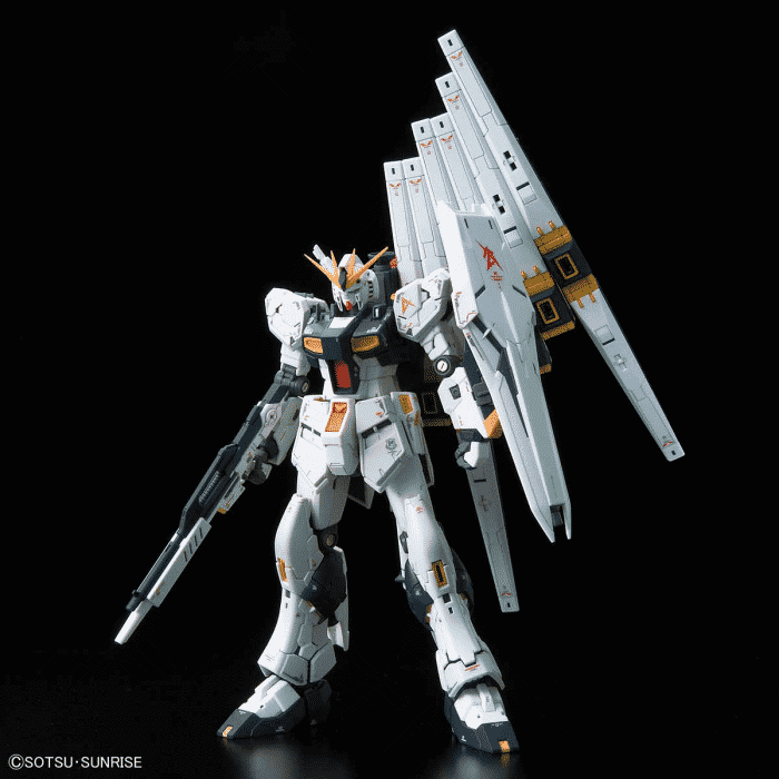 Real Grade Nu Gundam Pose 1