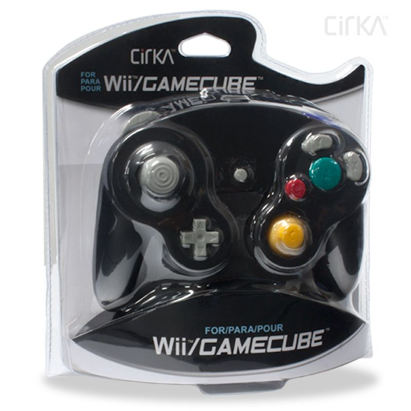 Cirka Black Wired Controller for Gamecube/Wii