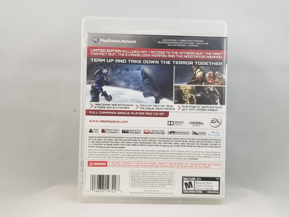 Dead Space 3 Limited Edition Back