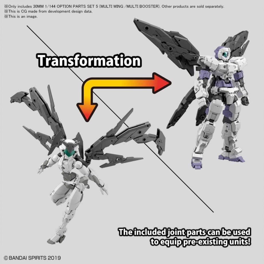 Option Armor Set 5 Multi Wing/Multi Booster Pose 3