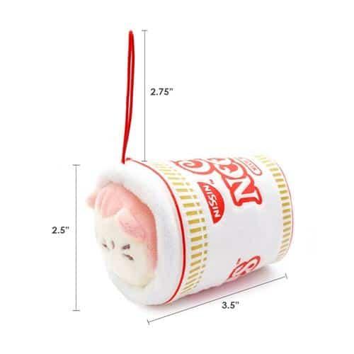 Cup Noodles Kittiroll Plush Keychain