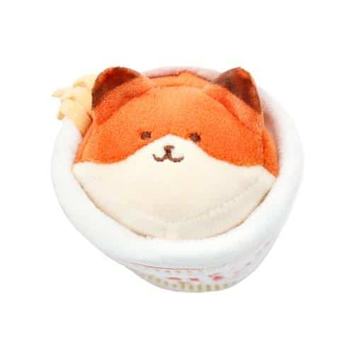 Cup Noodles Foxiroll Plush Keychain