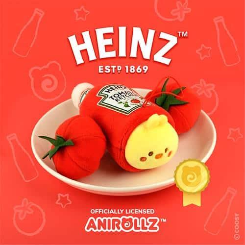 AniRollz Heinz Chickiroll Plush Keychain
