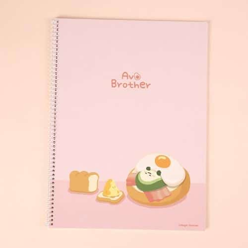 Avocado Brother Wire Bound Notebook Ver 2 Pink