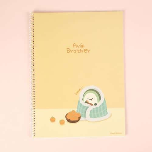 Avocado Brother Wire Bound Notebook Ver 2 Orange