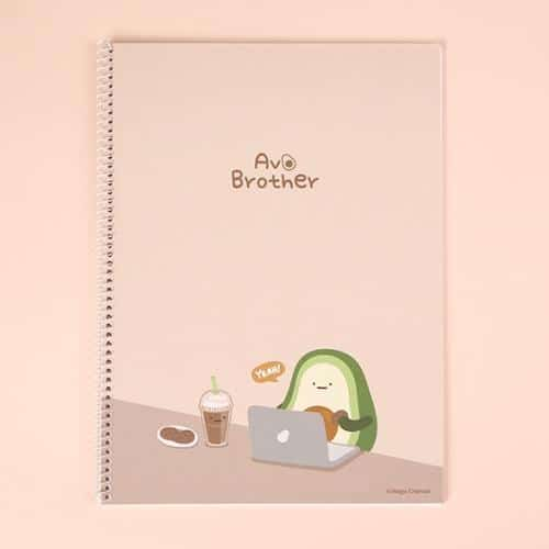 Avocado Brother Wire Bound Notebook Ver 2 Brown