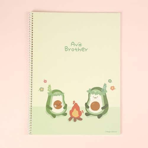 Avocado Brother Wire Bound Notebook Ver 2 Green