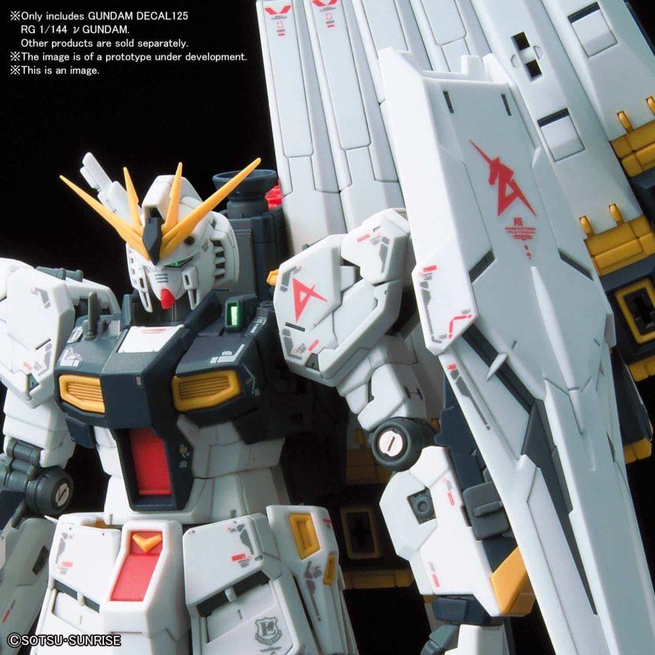 Gundam Decal 1/144 Real Grade Nu Gundam No. 125 Pose 2