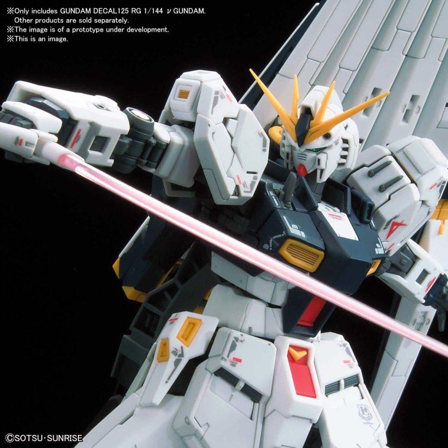 Gundam Decal 1/144 Real Grade Nu Gundam No. 125 Pose 3