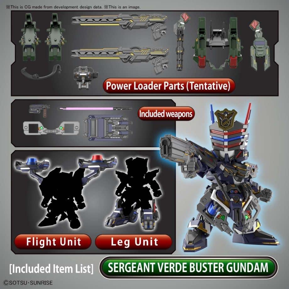 Sergeant Verde Buster Gundam DX Set Pose 4