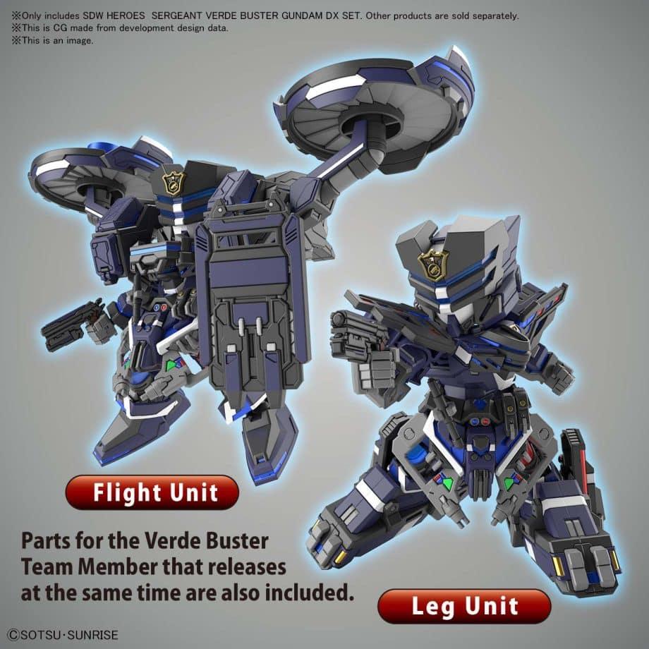 Sergeant Verde Buster Gundam DX Set Pose 5